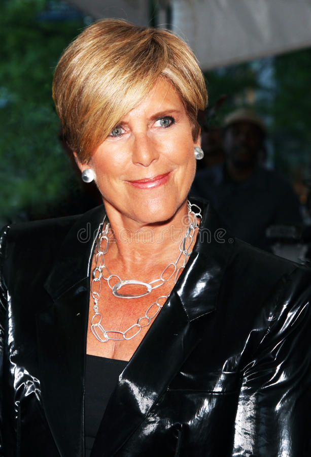Suze Orman. Personal financial advisor/counselor, arrives on the red carpet at Time Magazine's 100 Most Influential People gala in New York City on May 4, 2010 stock image