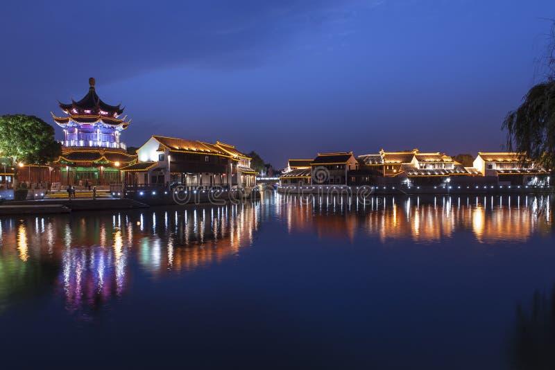 Suzhou alla notte fotografia stock libera da diritti