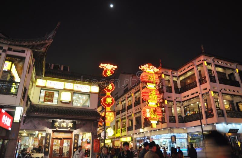 Suzhou ancient city at night stock photos
