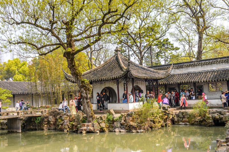 The Humble Administrator's Garden. SUZHOU, CHINA - APR 1, 2016: The Humble Administrator's Garden, a Chinese garden in Suzhou, a UNESCO World Heritage Site royalty free stock photography