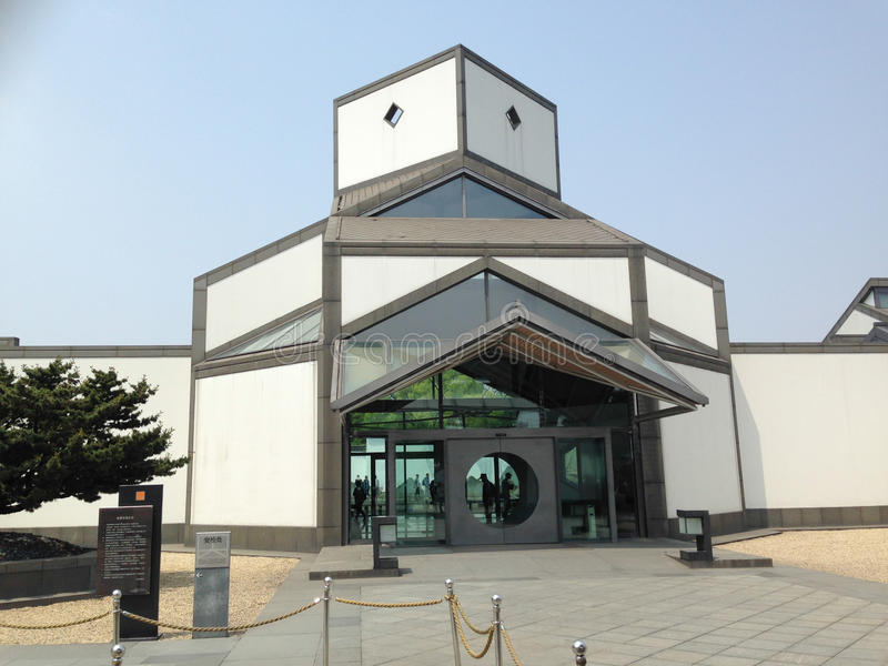 Suzhou, China, beroemde toeristische attracties, Suzhou-museum stock afbeelding