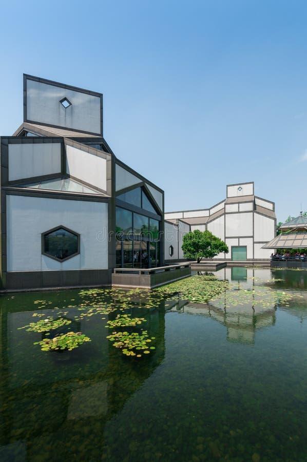 Suzhou, China - Mei 28, 2017: de bouw van Suzhou-Museum stock foto's