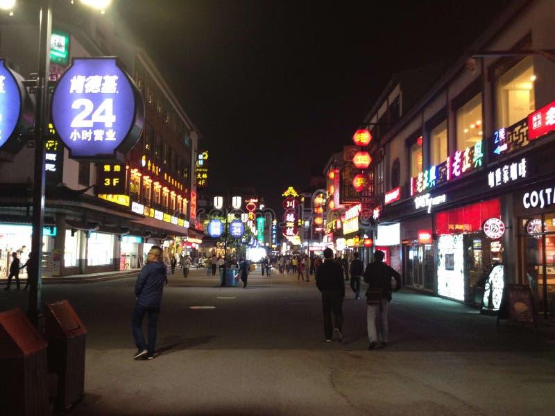 Suzhou, China, night scene stock photography