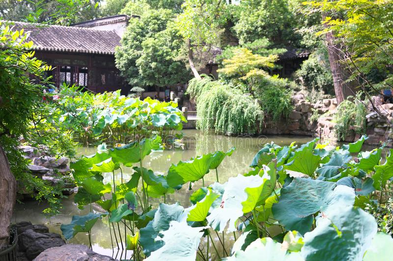 LiuYuan garden or Lingering garden, one of the world heritage in Suzhou, China royalty free stock photography