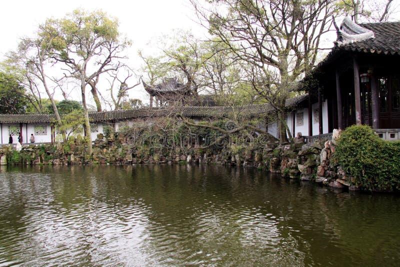 Suzhou cultiva un huerto Cang Lang Ting imagen de archivo libre de regalías