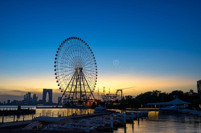 Suzhou Ferris koło zdjęcie royalty free