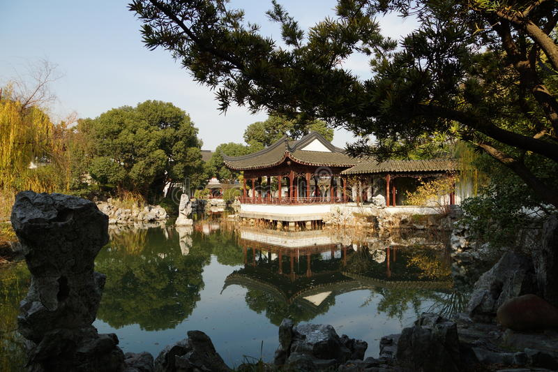 Suzhou Traditional Garden;Suzhou Gardens; Stock Images