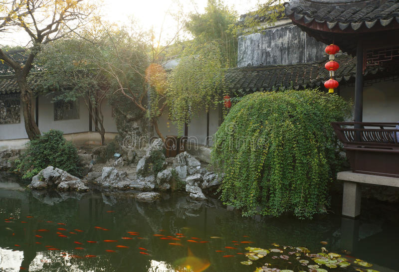 Download Gardens in Suzhou, China stock image. Image of architecture - 30135073