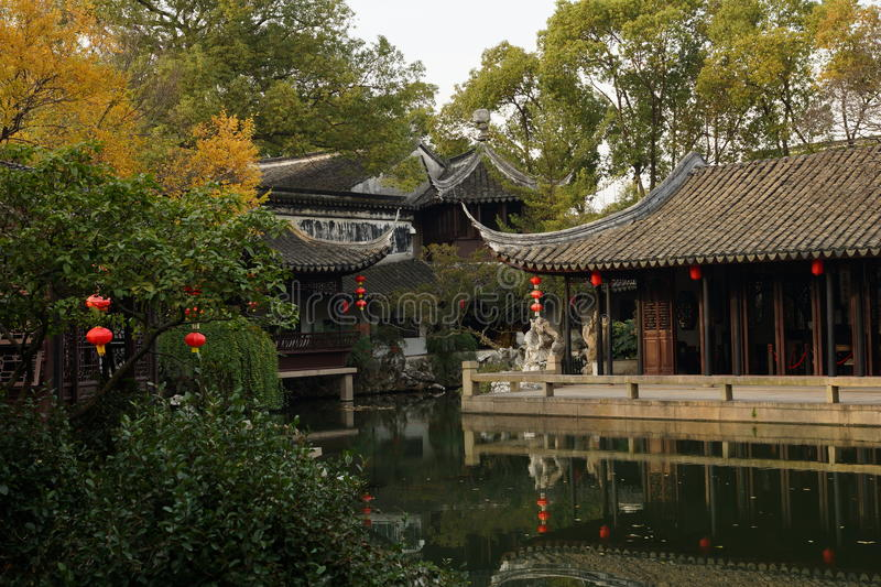 Gardens in Suzhou, China. Suzhou garden is refers to the Chinese city of Suzhou landscape architecture, mainly private gardens began in the spring and Autumn royalty free stock photo
