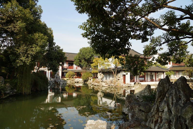 Suzhou Traditional Garden;Suzhou Gardens; Royalty Free Stock Photo