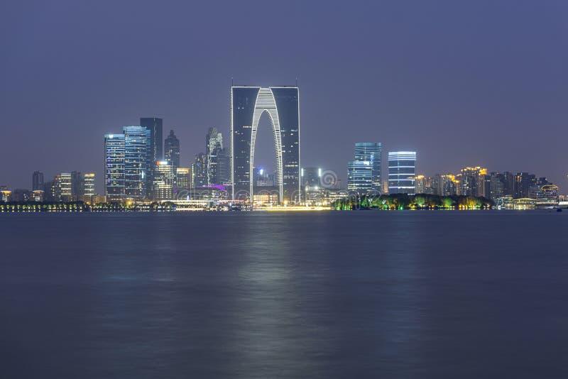 Suzhou horisontnatt arkivfoton