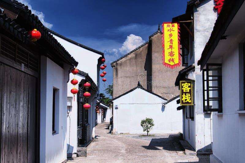 Suzhou Kina Luzhi för forntida stad hotell royaltyfri foto