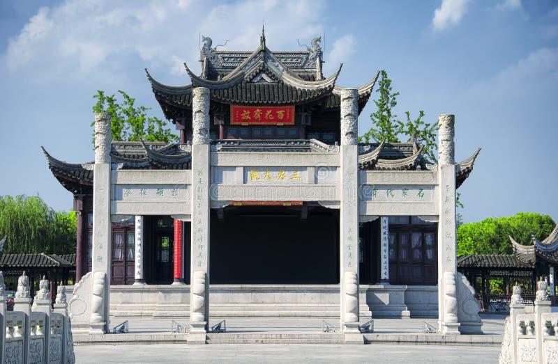 Suzhou Kina Luzhi för forntida stad port royaltyfria bilder