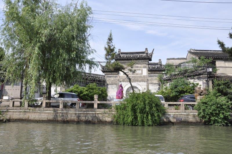 Suzhou, 4?me peut : La rue ou le canal immobile historique de Shantang de vie de la ville de Suzhou photographie stock libre de droits