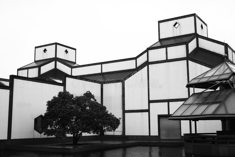 Suzhou museum royaltyfria bilder