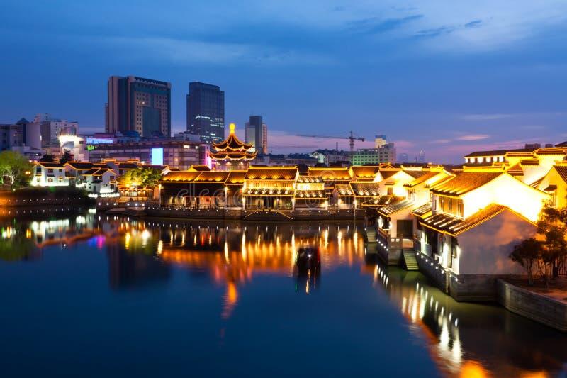 Suzhou-Nachtszene stockfotografie