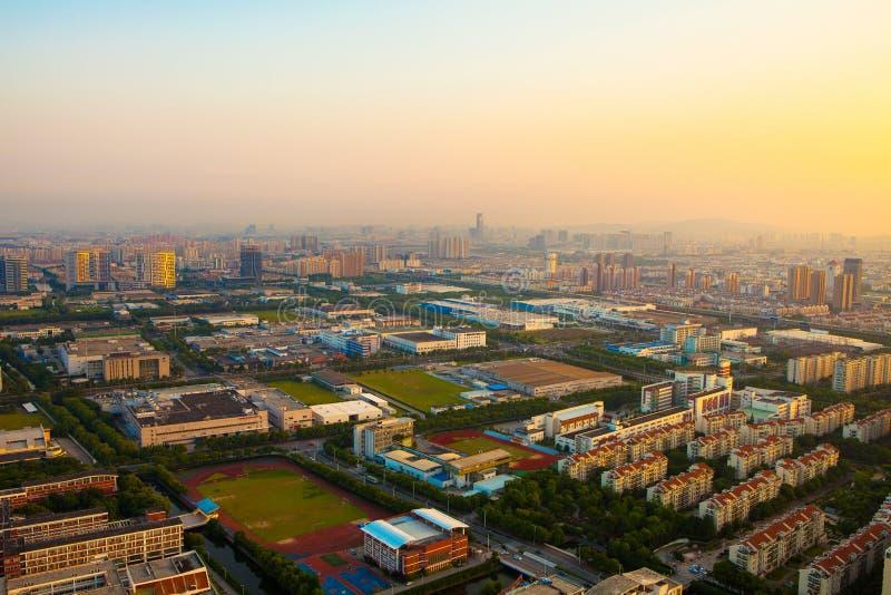 Suzhou, suzhouindustrieterrein royalty-vrije stock afbeeldingen