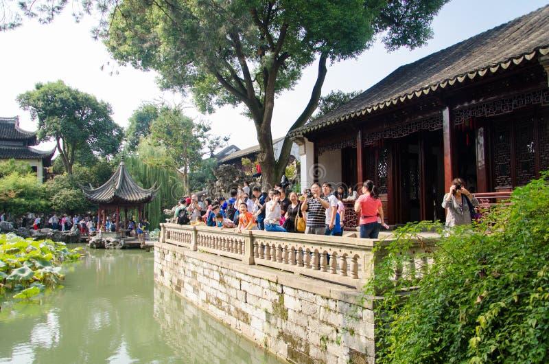 Suzhou trädgård arkivbild