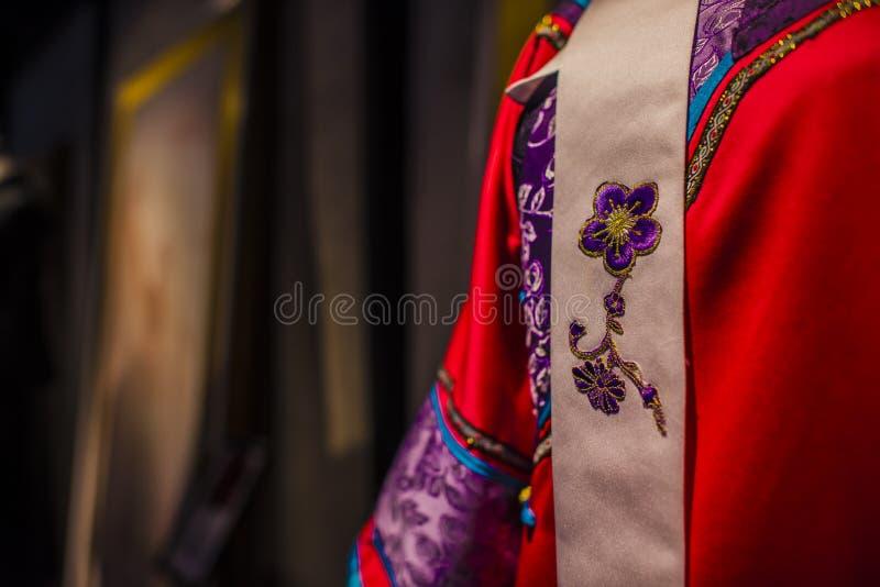 Suzhou tsu-Seide qipao stockfotografie