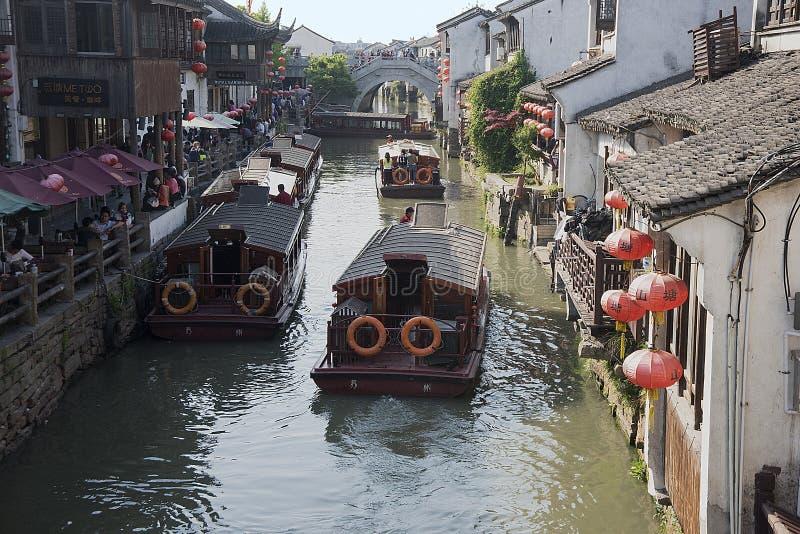 Suzhou, Venice of China stock image