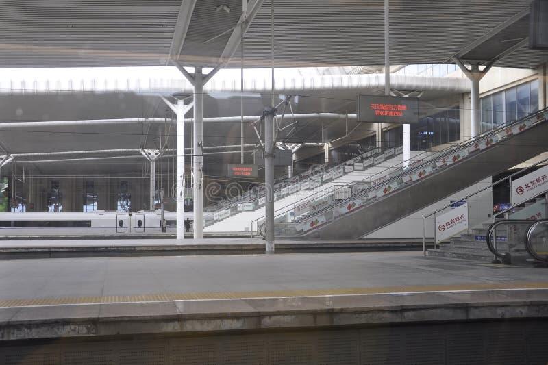 Suzhou, vijfde kan: Modern Stationbinnenland in Suzhou-stad van China stock afbeeldingen