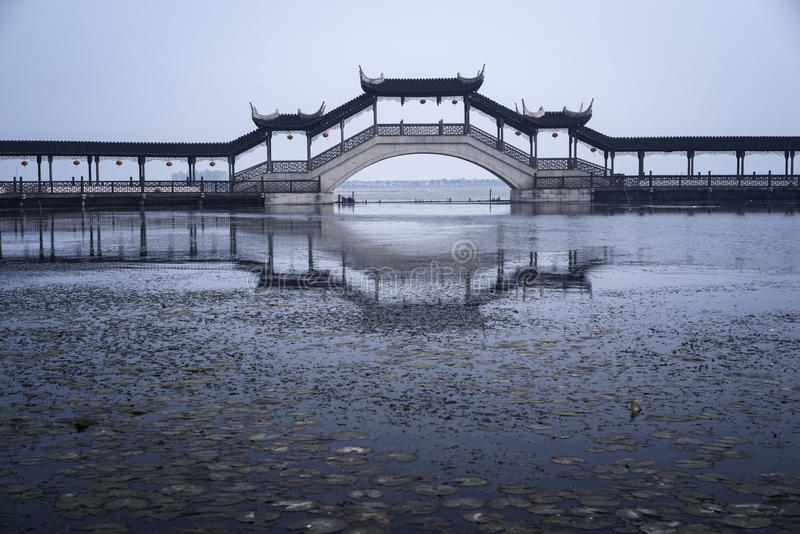 Suzhoubrug royalty-vrije stock fotografie