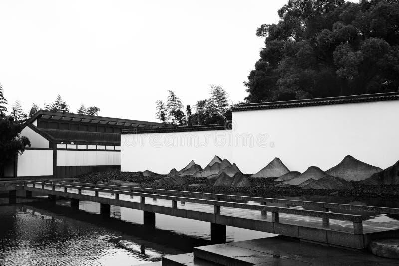 Suzhoumuseum en bezinning royalty-vrije stock afbeeldingen