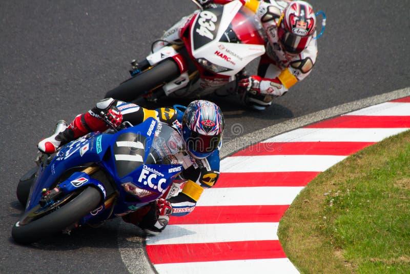 SUZUKA, JAPAN 29 Juli. Ruiter van F.C.C. TSR Honda stock afbeeldingen