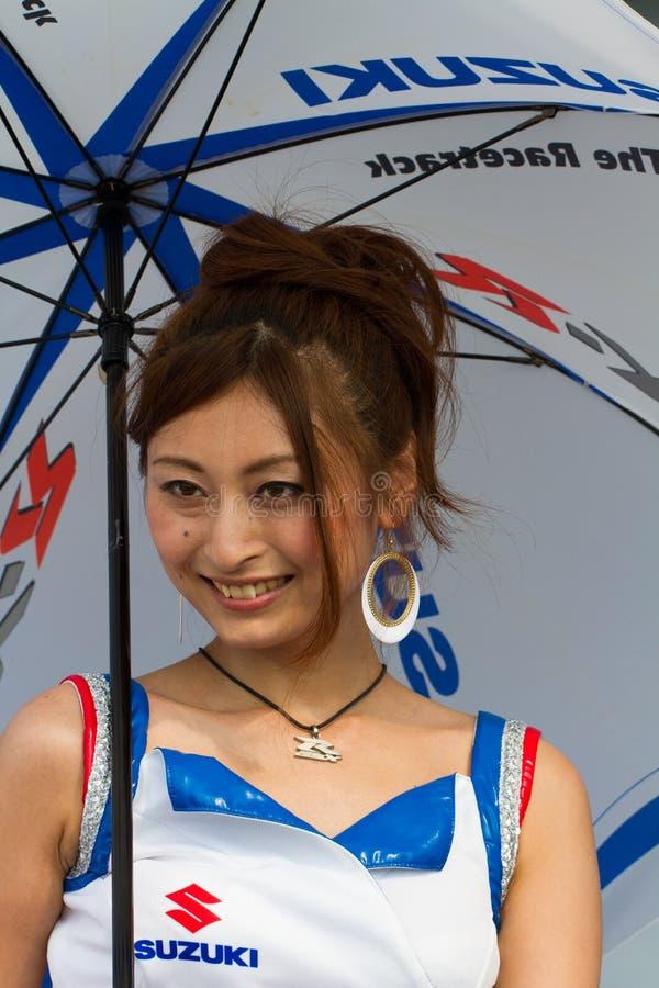 SUZUKA, JAPON - 29 juillet : Chéris non identifiés de mine image stock