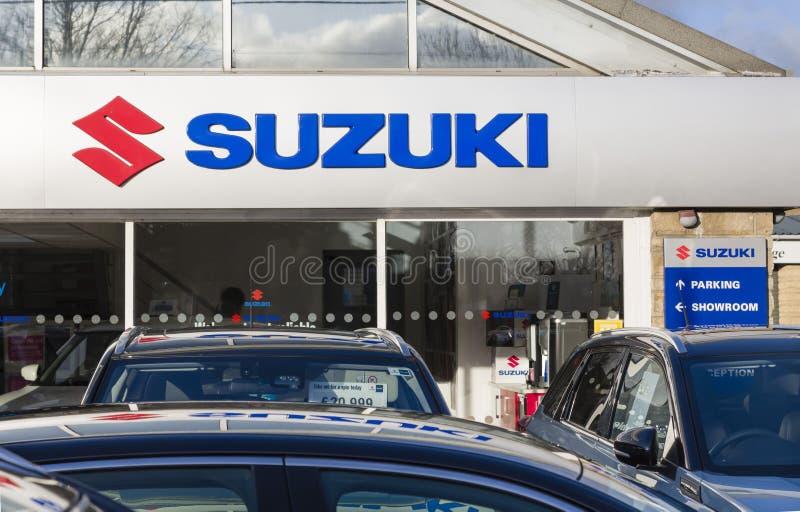 Suzuki-återförsäljare i Storbritannien arkivfoton