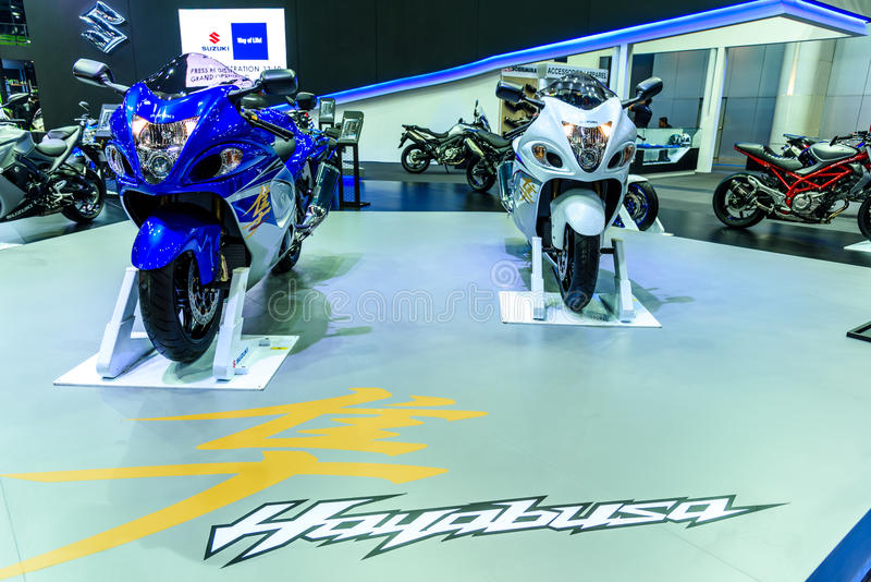 Suzuki Hayabusa on display at The 37th Bangkok International Motor Show stock image