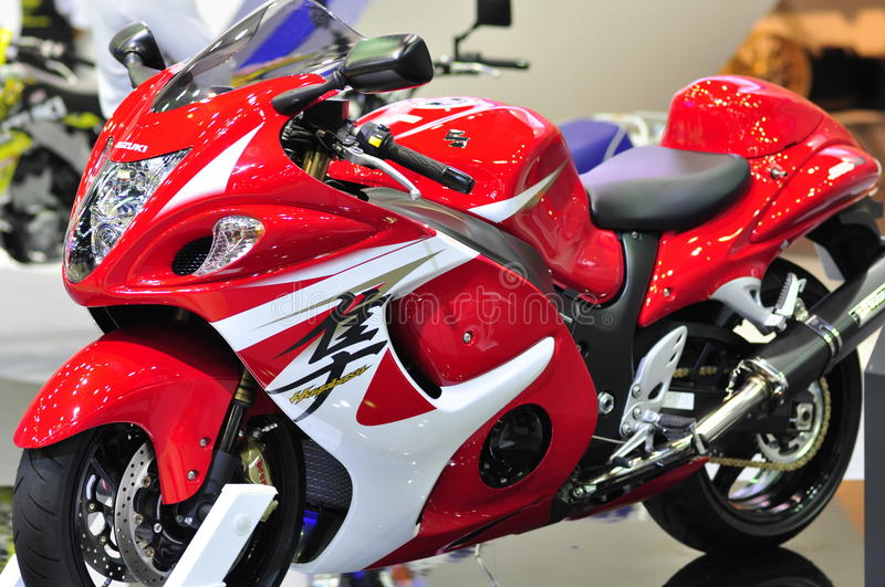Suzuki Hayabusa at the 36th Bangkok International Motor Show 2015 stock photos