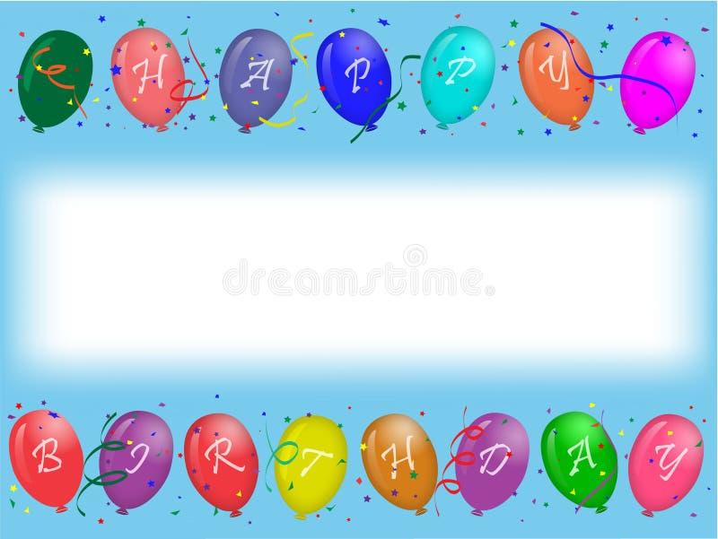 sväller deltagaren för födelsedagkorthälsningen stock illustrationer