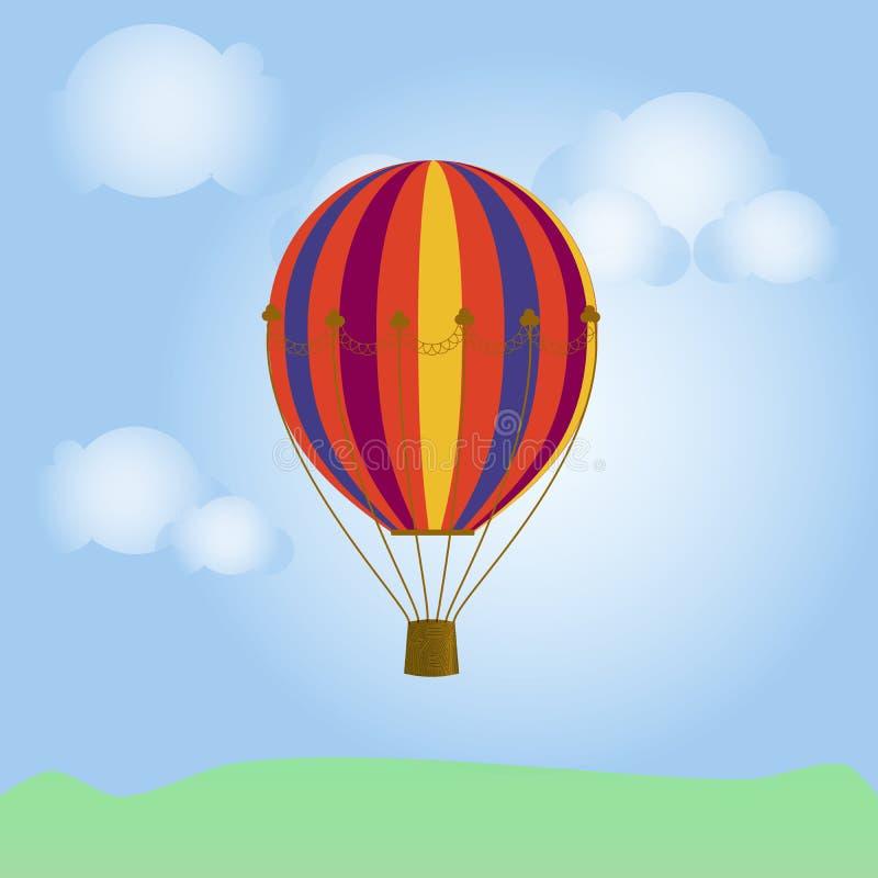sväller den blåa färgrika skyen royaltyfri illustrationer