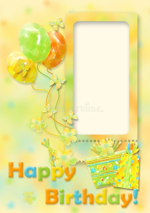 sväller födelsedagkortet royaltyfri illustrationer