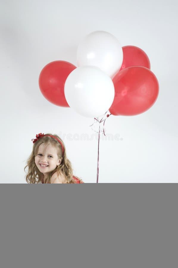 sväller flickan royaltyfri fotografi