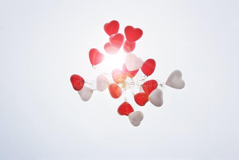 sväller formad hjärta sväller skyen royaltyfri foto