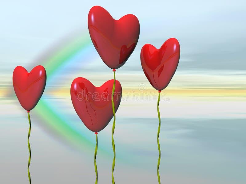 sväller hjärtavalentinen vektor illustrationer
