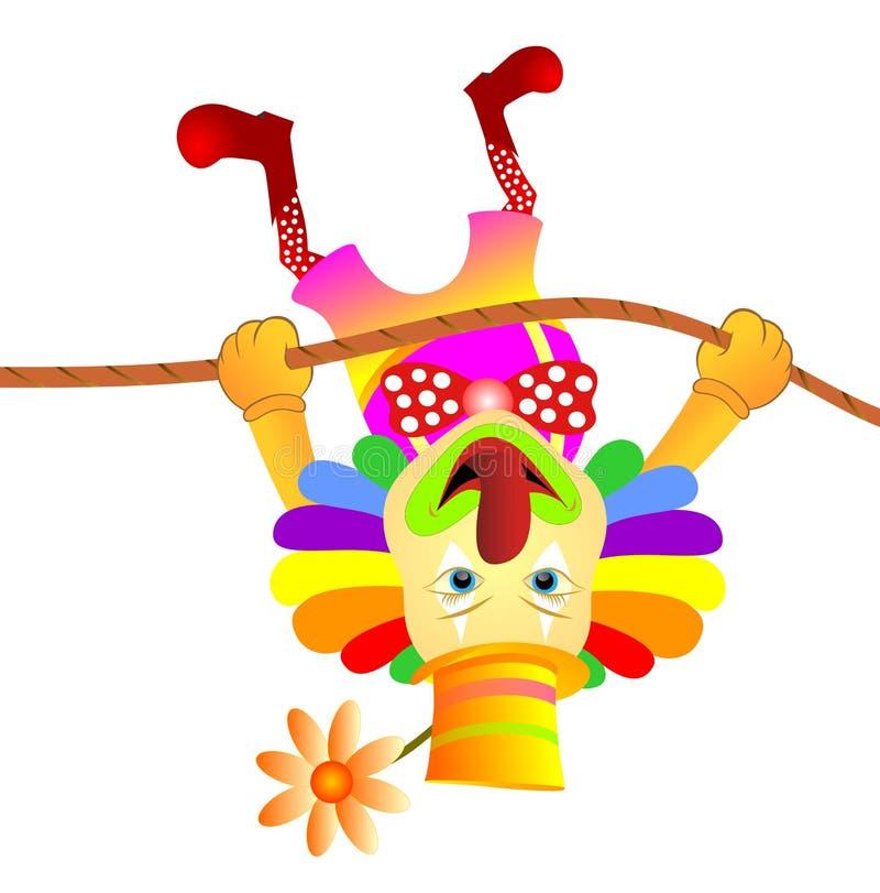 Svänga för clown stock illustrationer