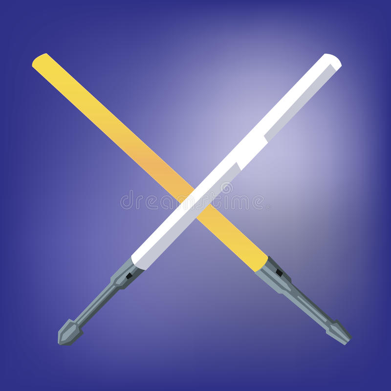 Svärd för laser för ljus stråle royaltyfri illustrationer