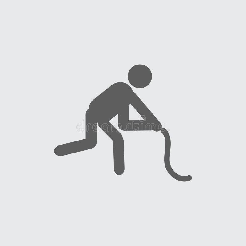 Svärta den plana symbolen för vektorn för idrottshallutbildningsidrottsman nen vektor illustrationer