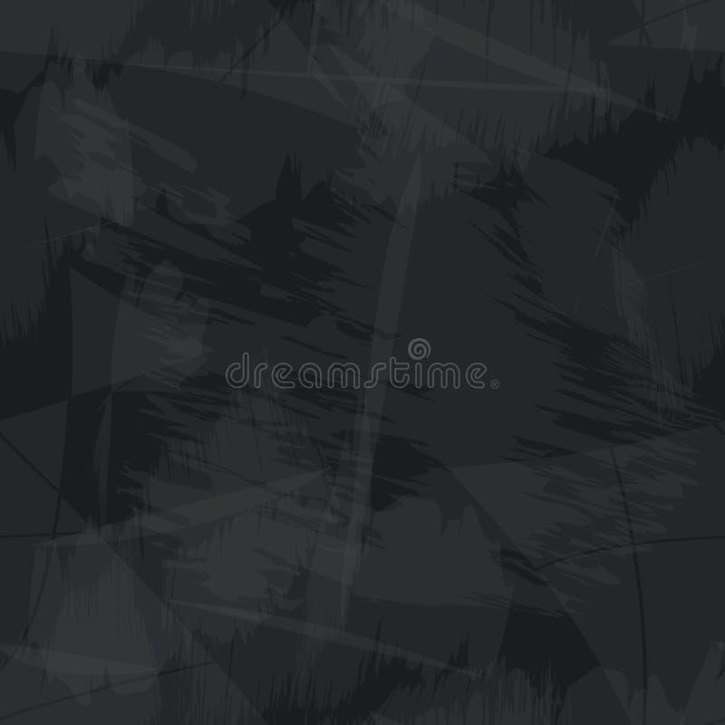 Svärta och gråna grungy pappers- sömlös bakgrund eps10 royaltyfri illustrationer