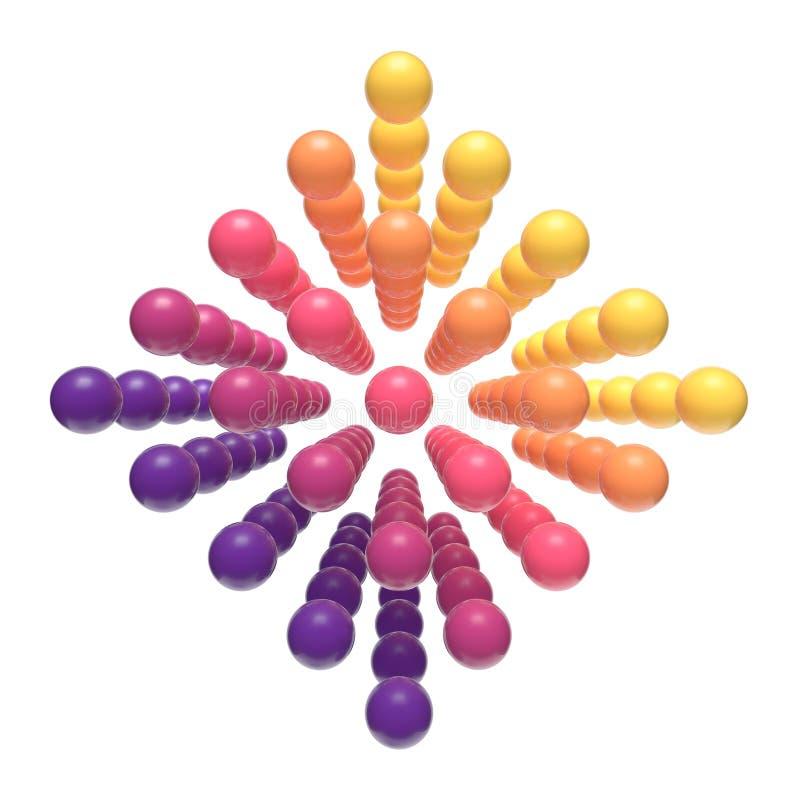 Sväva färgrika barnsliga orbs royaltyfri illustrationer