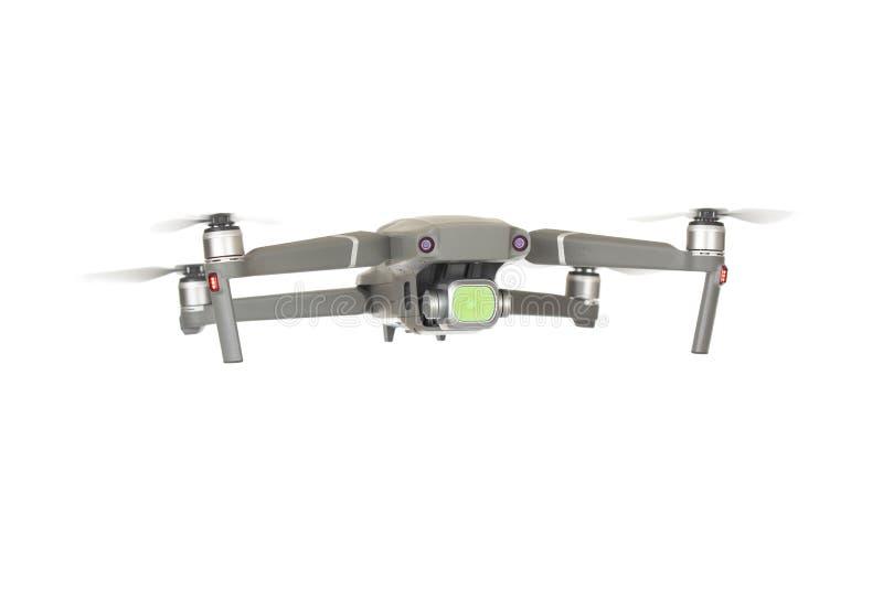 Sväva för UAV som eller för surr isoleras på en vit bakgrund royaltyfri foto