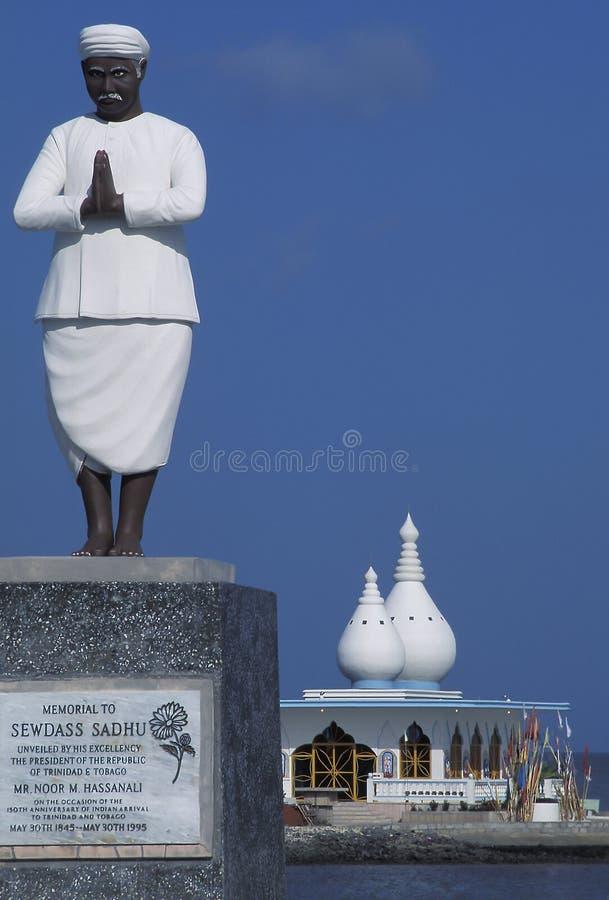 Sväva Mandir den hinduiska templet, Trinidad arkivfoton