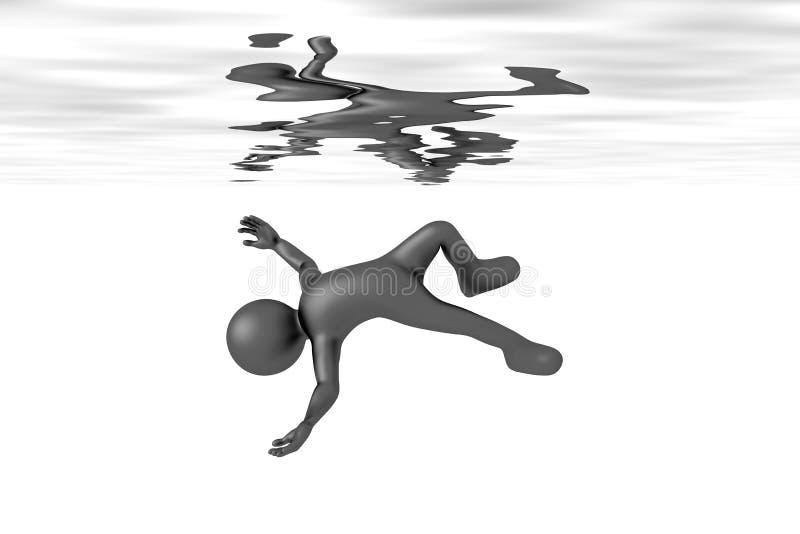 sväva mannen i vattnet vektor illustrationer