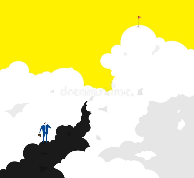 svårigheter vektor illustrationer