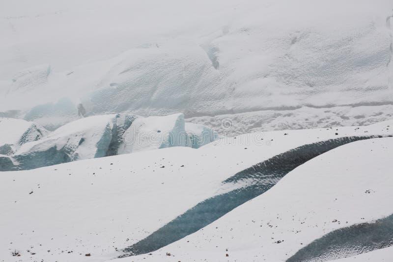 Svínafellsjökull Glacier, Iceland. Fractured blue ice of the Svínafellsjökull Glacier, Iceland royalty free stock photos