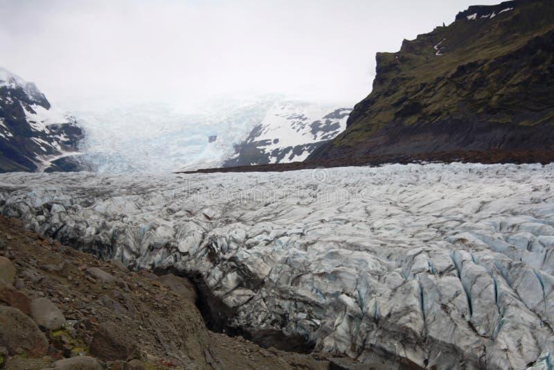 Svínafellsjokkul - glacier stock image