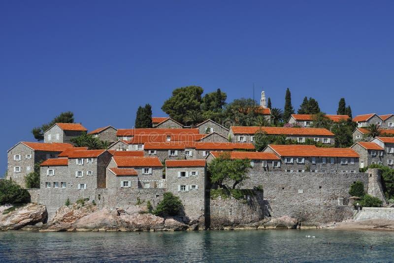 SV. Isla de Stefan, Montenegro imagen de archivo